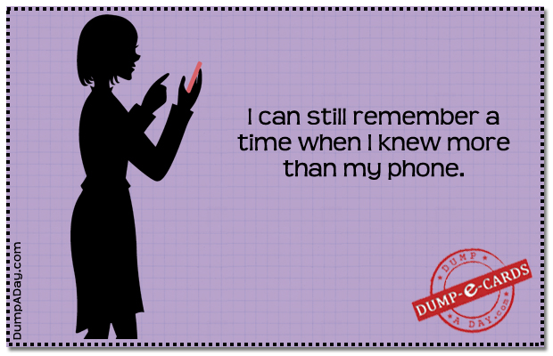 Remember more than phone Dump E-card