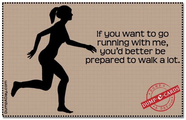 Running with me Dump E-card