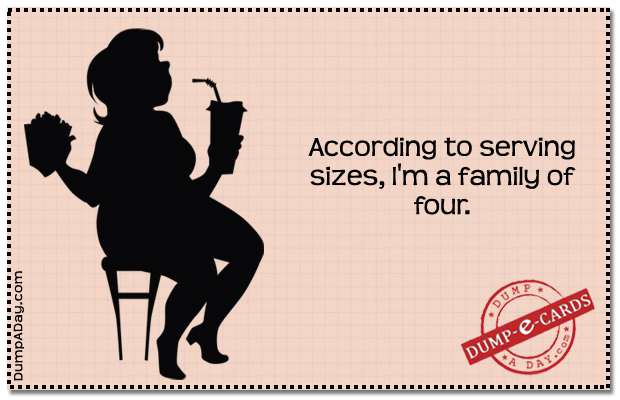 Serving sizes Dump E-card