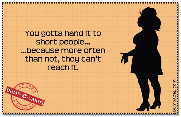 Short people Dump E-card
