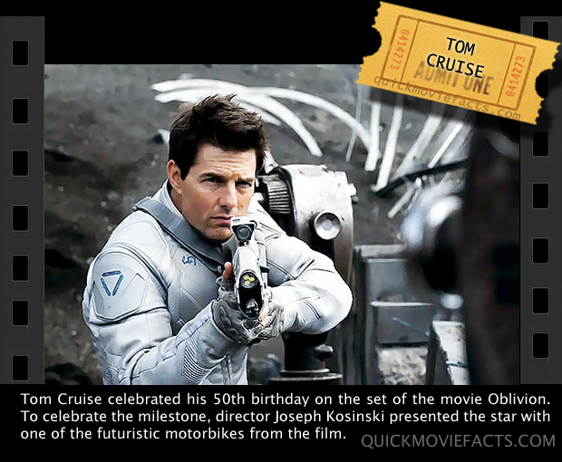 Tom cruise- Oblivion Fact
