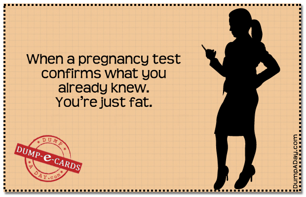 a Pregnancy Test Dump E-card