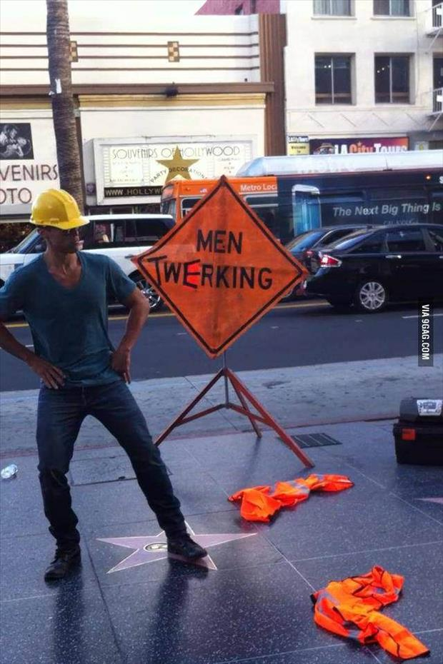 a men working sign