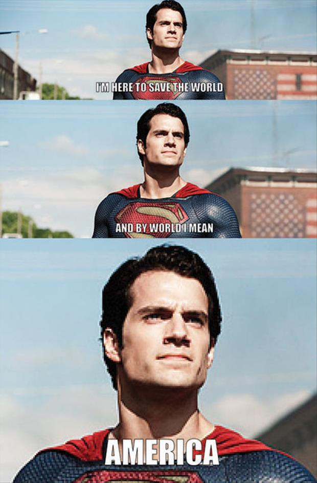 a superman is here to save the world