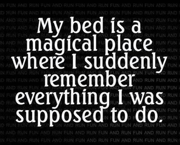 bed is a magic place
