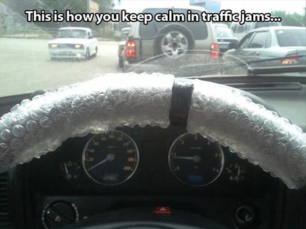 bubble wrap in your car