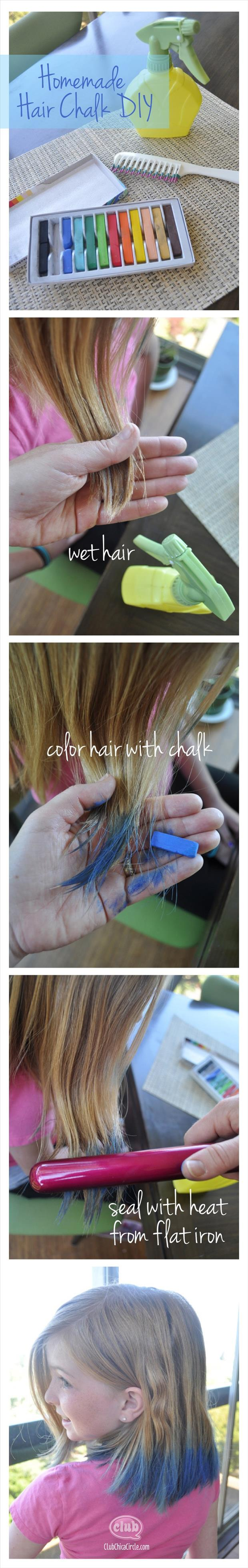 color hair with chalk craft ideas