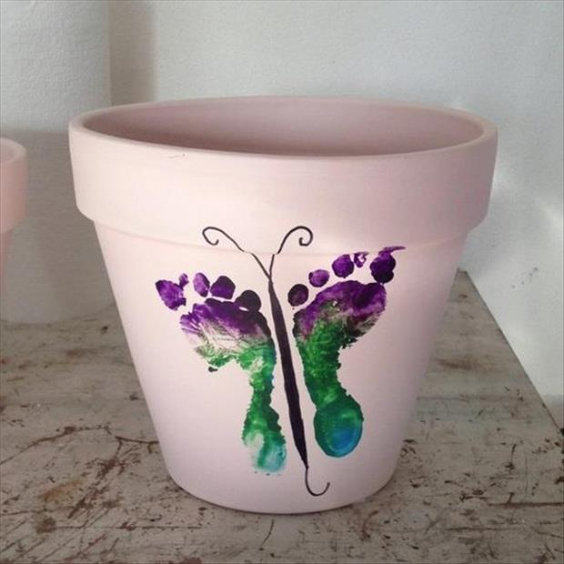 do it yourself painted flower pots