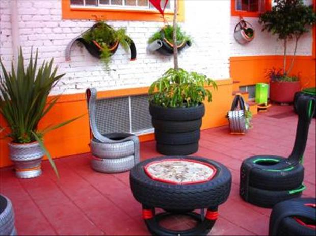 do it yourself projects using old tires, dumpaday (12)