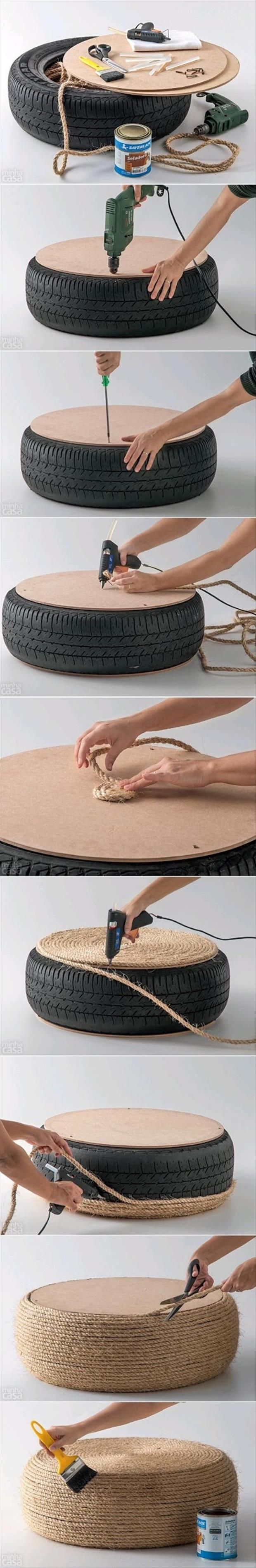 do it yourself projects using old tires, dumpaday (13)