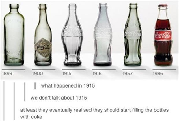 evolution of the coke bottle