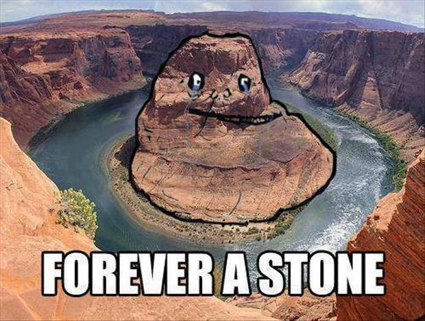 forever alone guy in stone