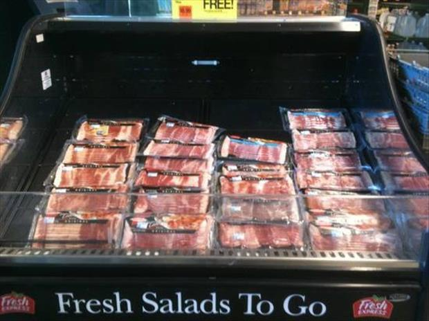fresh salad to go bacon