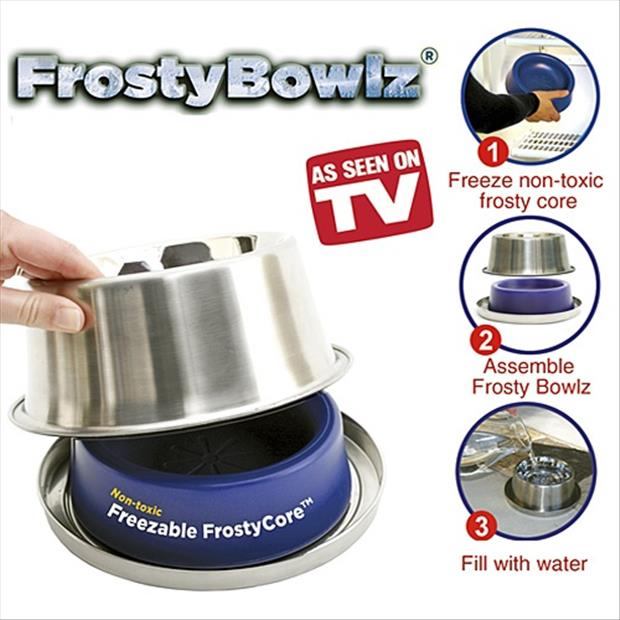 frosty dog water bowl