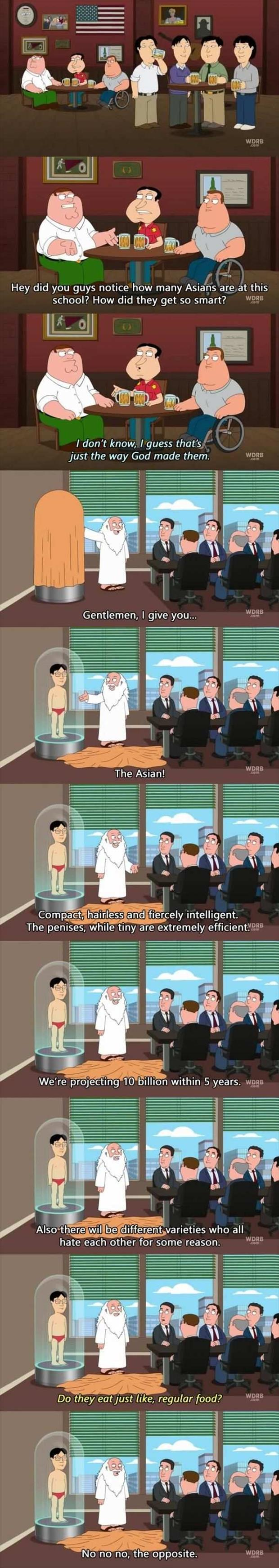 funny asians family guy