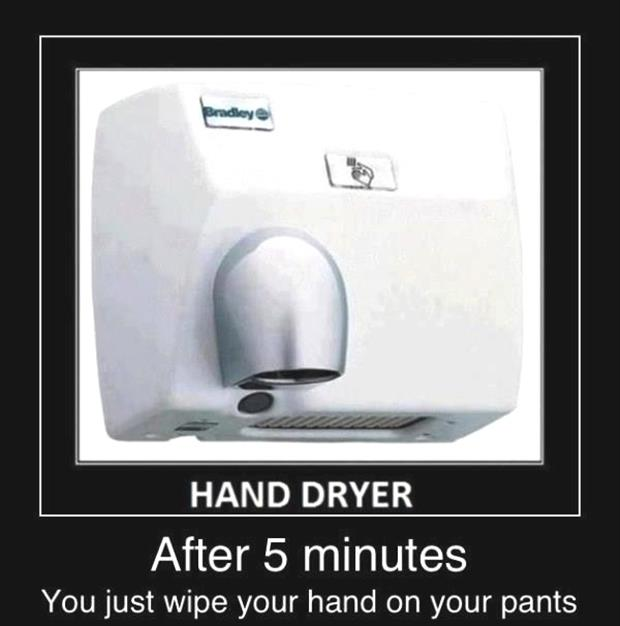 funny hand dryer