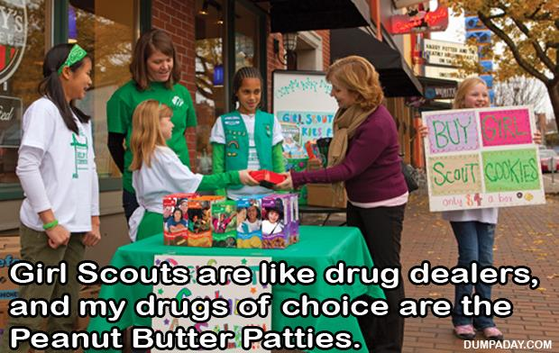 funny pictures girl scout cookies