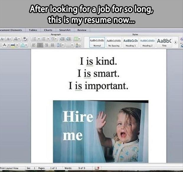 funny resume