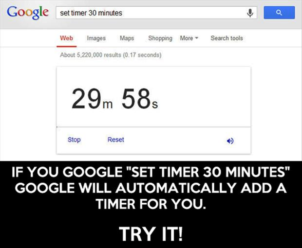 google sets a timer for you