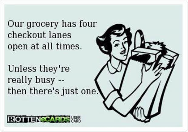 grocery store checkout lanes funny pictures