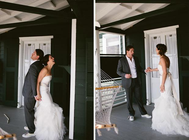 grooms blown away by how beautiful their brides are (12)