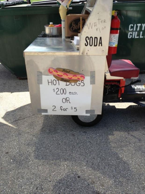hot dogs for sale