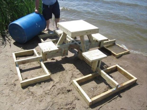 how to make a floating picnic table (17)
