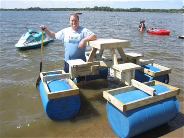how to make a floating picnic table (20)