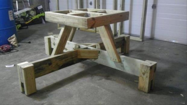 how to make a floating picnic table (8)