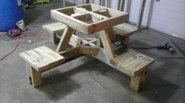how to make a floating picnic table (9)