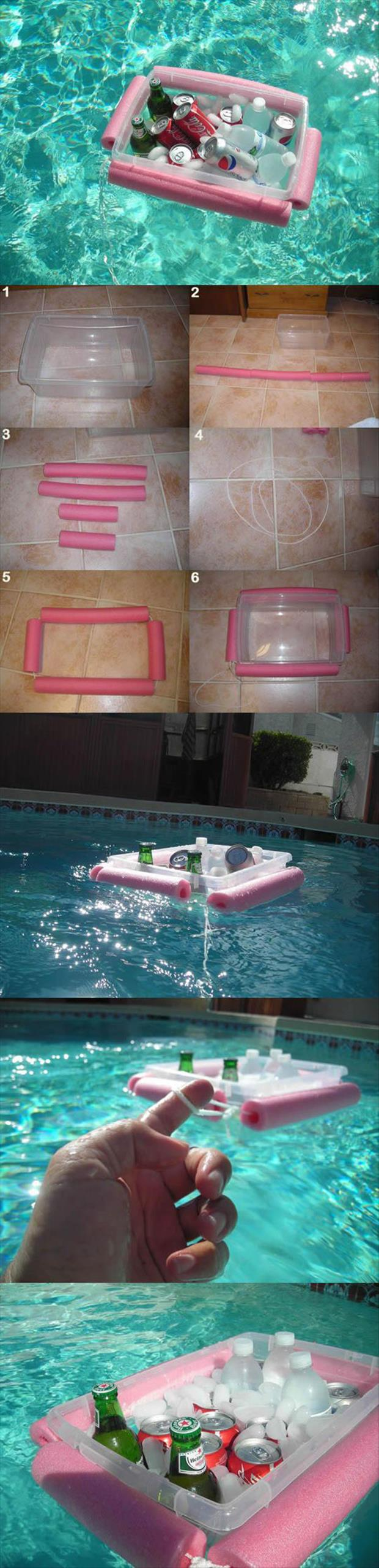how to make a pool cooler