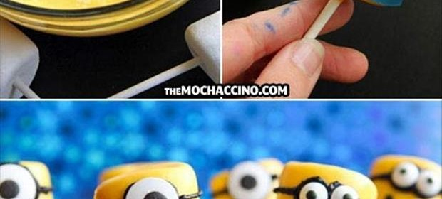 how to make marshmellow minions