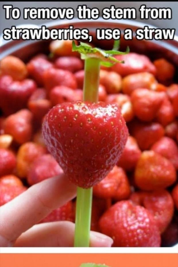 how to remove stems from strawberries