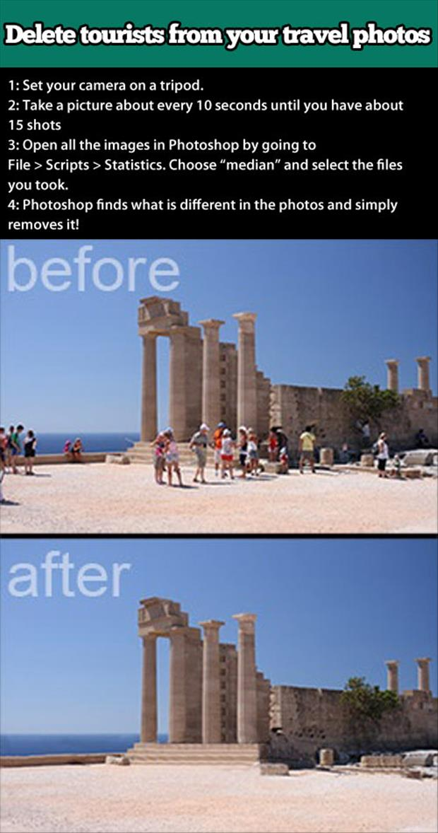 how to remove tourists from your vacation pictures