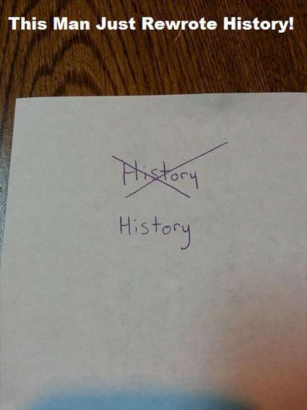 how to rewrite history
