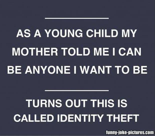 idenity theft funny pictures
