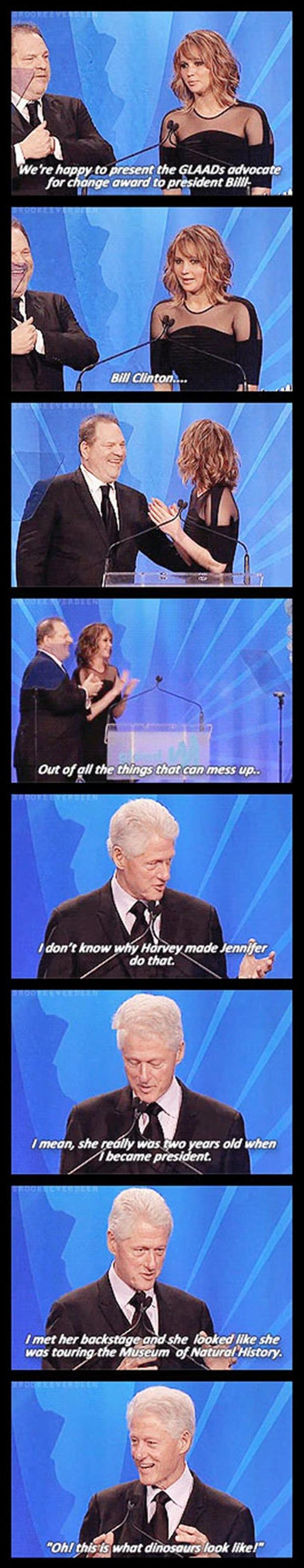 jennifer lawrence introduces bill clinton