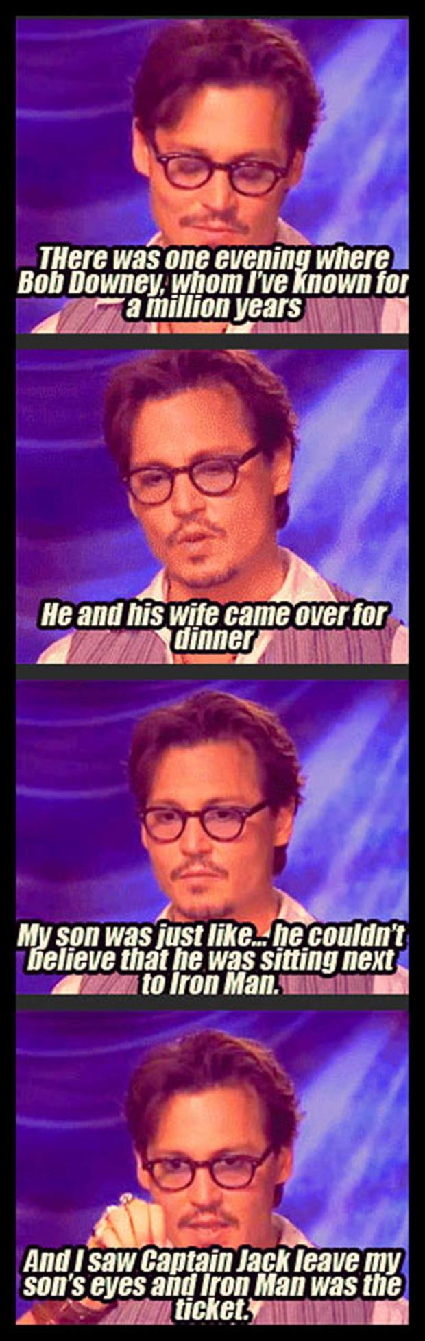 johnny depp talking about iron man