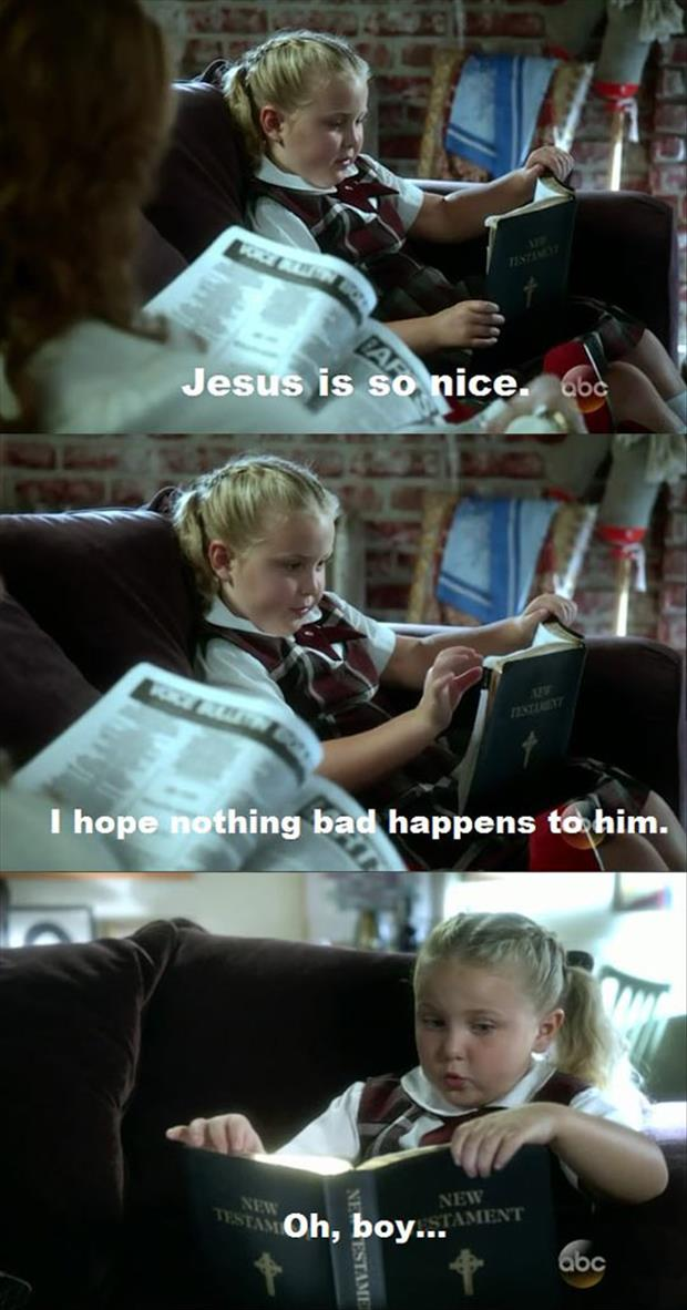 kid reading the bible
