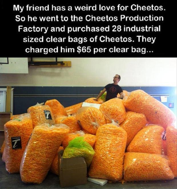 lifetime supply of cheetos