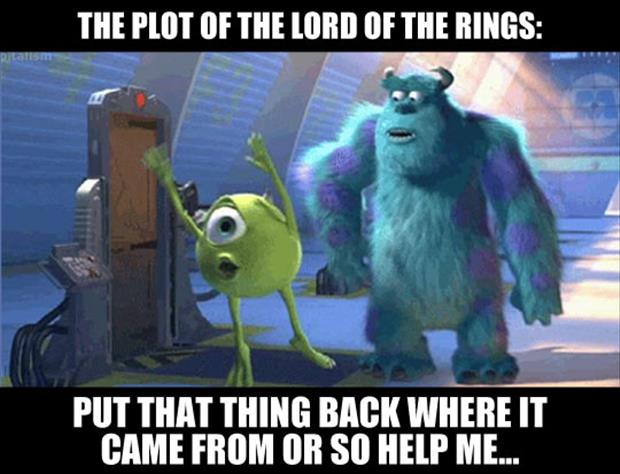 lord of the rings funny plot line