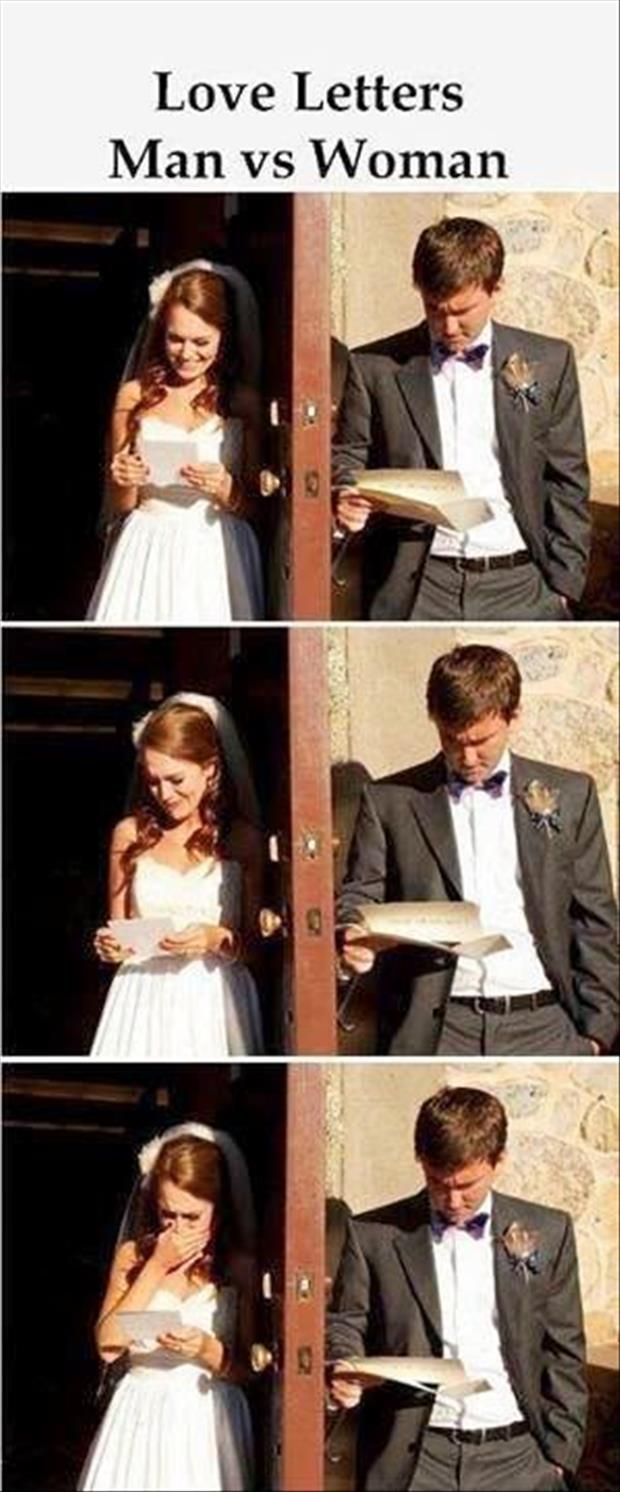 love letters man vs women