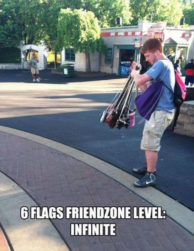 man holds women purse friendzone