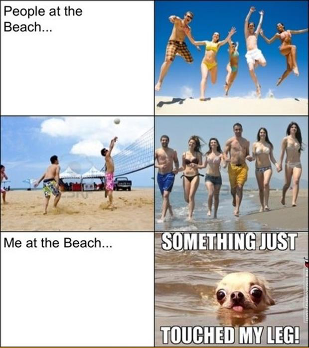 me at the beach