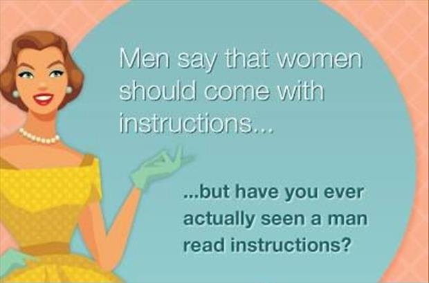 men read instructions
