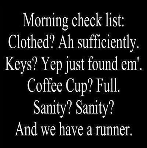 morning check list