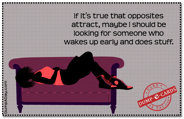 opposites attract Dump E-card