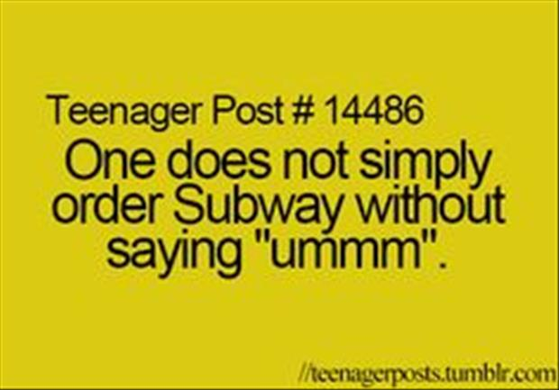ordering a subway sandwich