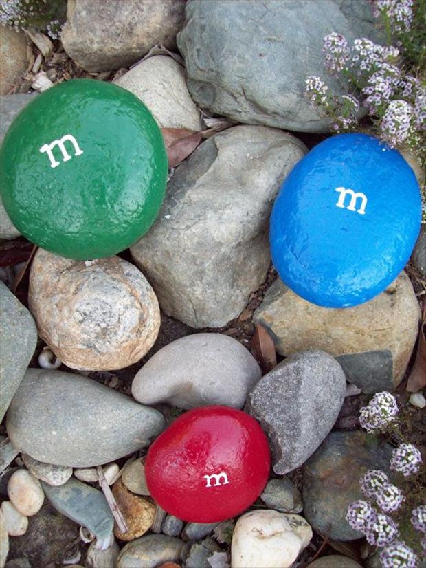 paint random rocks and then place them back