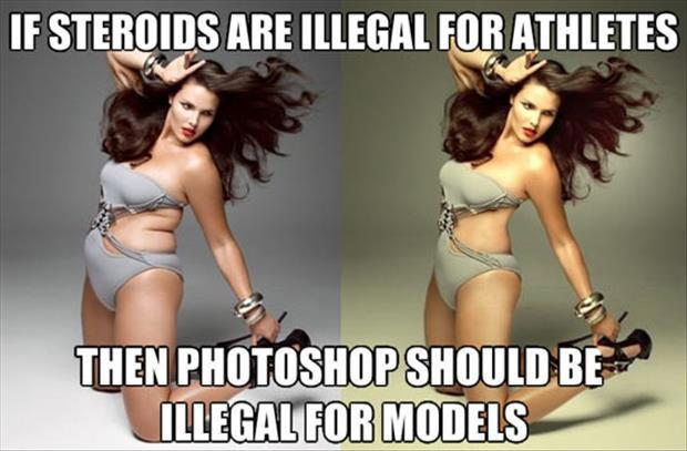 photoshop and models